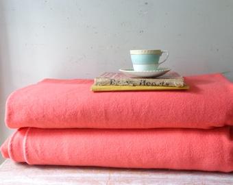 Pair of VIntage Onkaparinga Wool Blankets in Pink
