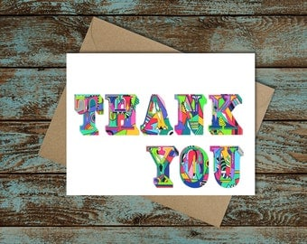 Thank You Greeting Cards -- Pack of 5