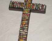 Paper Bead Embellished Cross