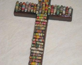 Paper Bead Embellished Cross
