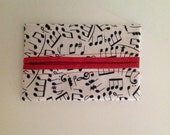 Musical Notes Fabric Tissue Holder