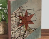 Chicago Art Print, Chicago Flag Art, Chicago Flag Wood, Chicago Flag Wall Art