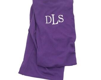 SALE-- Monogrammed Infinity Scarf Solid Purple--Free Monogramming--Fast Turnaround