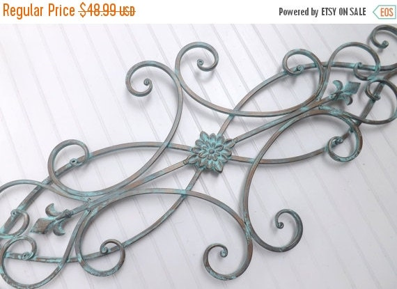 ON SALE Wrought Iron Wall Decor / Indoor /Outdoor / Patina