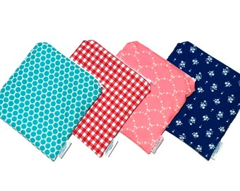 Reusable Snack Bag with Zipper / Eco Friendly Bag / Reusable Sandwich Bag / Zipper Pouch / Wet Bag / Choose Fabric - WAS 10.00 NOW 5.00