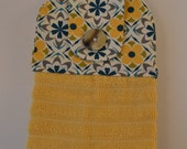 Set of Two Handmade Hanging Kitchen Towels- Geometric- Aztec- Kitchen Towels- Hanging Towels- Bathroom Towels