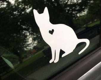 Cat car decal, shorthair cat decal, cat, cat decal, cat lover, cat love, shorthair cat