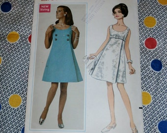 "1960s Vintage Butterick Pattern 4693 for Misses' A Line Evening Dress Size 12, Bust 34"", Waist 25 1/2"", Hip 36"""