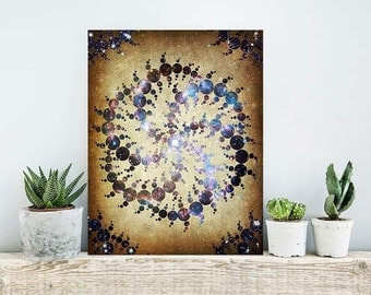 ON SALE 20% OFF The 409 Circles - stretched canvas print, crop circles art, crop circle print, sci fi decor, geometric print, large wall art