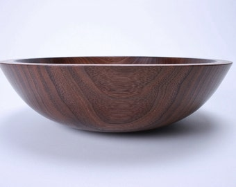 Wild Black Walnut Wooden Salad Bowl 1363