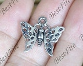 20 pcs of Antique Silver charming butterfly pendant,scissor metal finding 17x20mm,butterfly findings beads,butterfly pendant beads findings