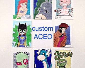 Custom Artist Trading Card, ACEO, Cartoons, Pop Culture, Sketch Card, Comicbook and More...