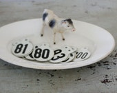 Vintage Two Sided Metal Cow Tags - 20 Available