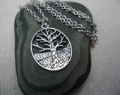 Silver Tree Necklace - Tree of Life - Silver Tree Jewelry - Earthy Nature Jewelry
