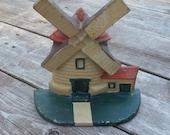 Dutch Windmill Door Stop Cast Iron