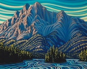 Ghostrider, 8x10, art print, canadian artist, ready to frame