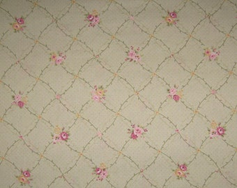 Georgia Lou Lecien fabric DESTASH Fat Quarter by Brenda Riddle shabby chic quilting crafts