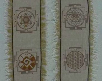 Sacred Geometry Wall hanging / altar piece ~