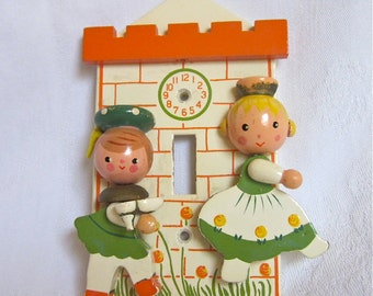Nursery Decor IRMI Cinderella Light Switch Plate Baby Girl Nursery Vintage Decor Fairy Tale Collectible
