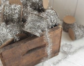 Tinsel Garland - Silver Vintage Style Christmas Trim, 12 Foot Spool