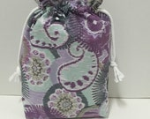 Paisley Medallion -  Large Box Bottom Poor Girl Project Bag