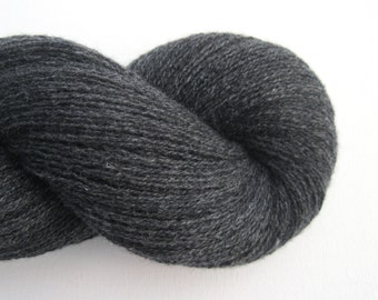 Lace Weight Recycled Cashmere Yarn, Charcoal, 350 Yards, Lot 040815
