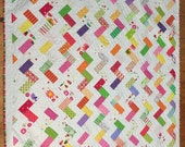 Bright, Fresh, Scrappy Zig Zag Quilt