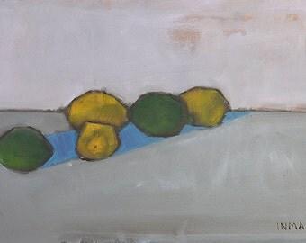 Lemons and Limes Still Life- Original Oil Painting