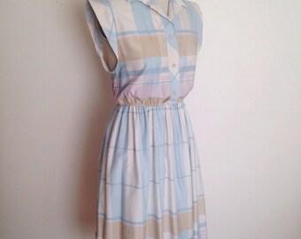 Vintage pastel plaid dress