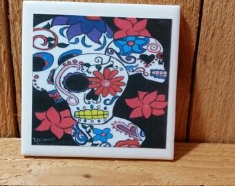 Sugar skull Coasters set