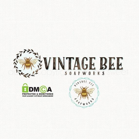 bee logo design watercolor logo beekeeper logo design beauty logo ...