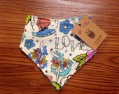 Sale! 30% off. Tattoo Bandana Bib. Drooler Bib for Baby Girls and Baby Boys. Baby and Toddler. Gender Neutral Baby Gift.