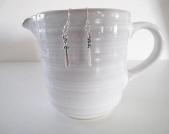 """1 1/2"""" Miniature Sword Earrings"""