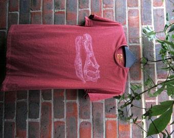 Baryonyx Dinosaur Skull Small T-shirt  - Bleach Painted - Dino Bones - Fossils - Spinosaurus - Gifts for Him - Boys Tshirt