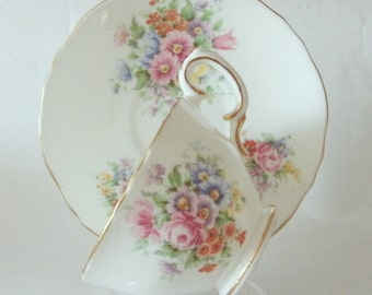 Vintage Crown Staffordshire Dreamy Teacup and Saucer