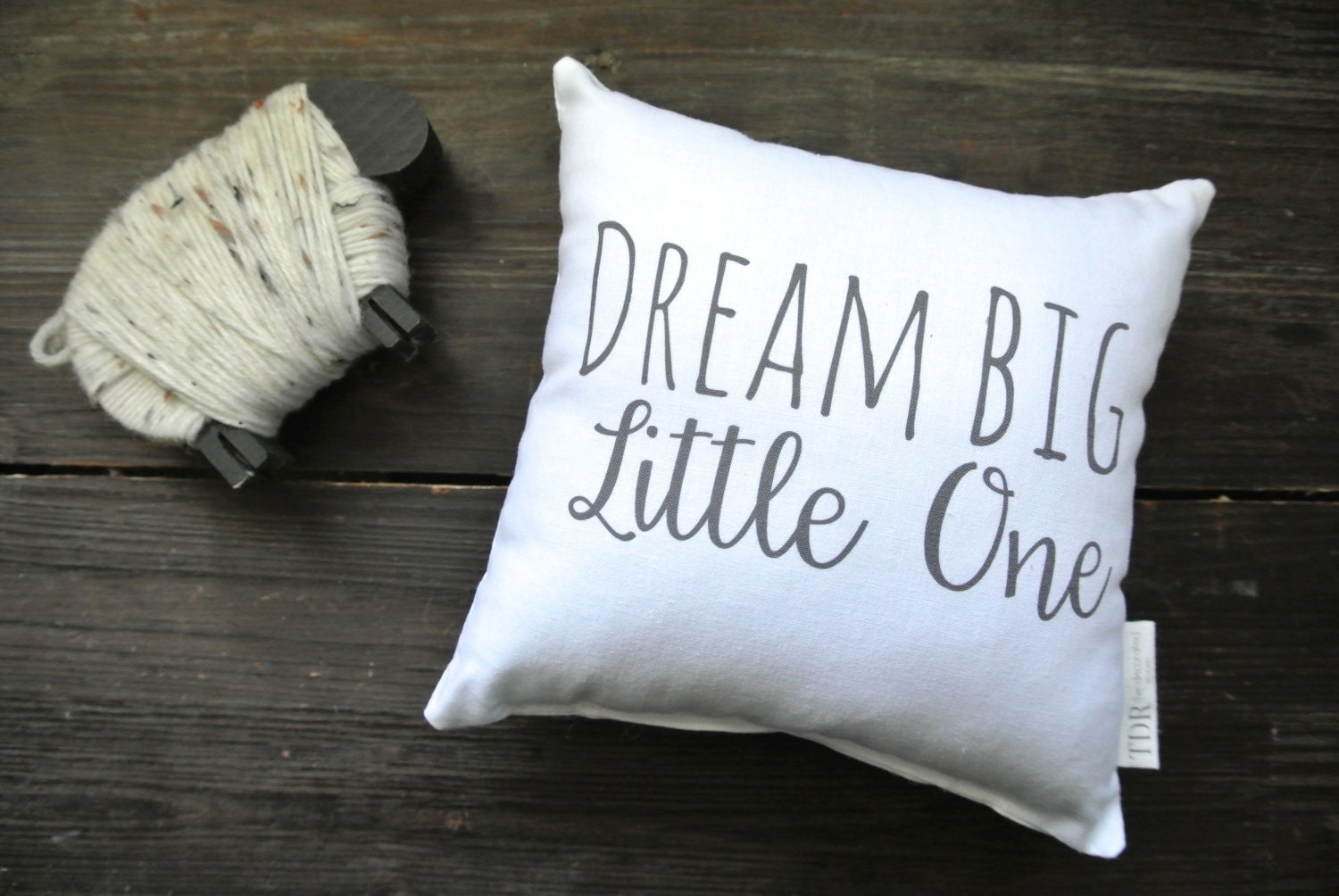 personalized pillow dream big little one quote mini pillow. Black Bedroom Furniture Sets. Home Design Ideas