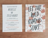 Custom Listing for Baby Kochhar | Wild Rumpus | Baby Shower Invitations