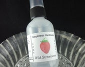 WILD STRAWBERRY Body Spray, All Natural Perfume Room and Linen Spray 2 oz, Witch Hazel Women's Fragrance, Strawberries Fruit Sweet Summer