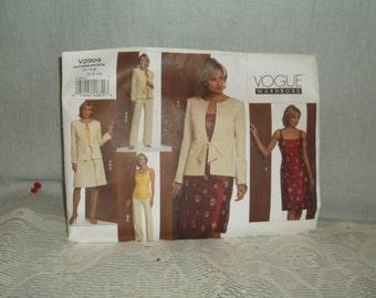 Vogue Pattern V2909, Jacket, Dress, Skirt, Pants, Sizes 6-8-10