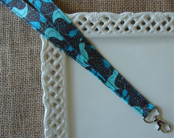 Fabric Lanyard - A Little Bird Told Me