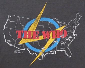 THE WHO vintage 1980 tour TSHIRT soft thin burnout