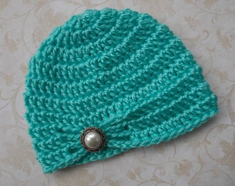 Baby jewel hat - 3 sizes available - choose your color - made to order