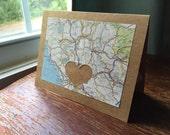 I Love Rome Italy - 1 blank handmade greeting card
