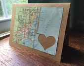 I love Miami FL - 1 blank handmade greeting card