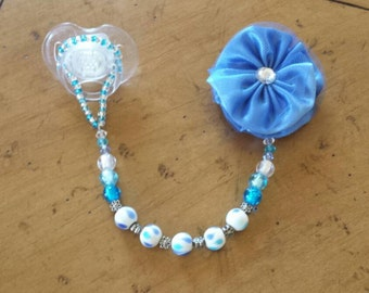 Blue Saphire Binkie Holder