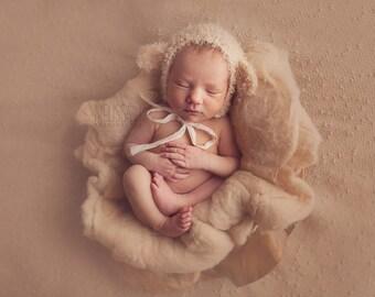 Newborn Lamb Bonnet