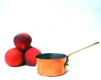 Vintage French Chef's Copper Sauce Pot-Made in France- Gourmet Kitchenware
