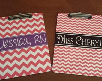 Customizable personalized Clip Board - TEACHER GIFT - OFFICE Supplies - Nurse Week - Teacher Appreciation  - Clipboard