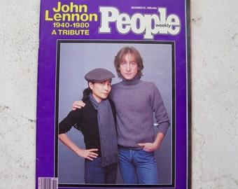 Vintage People Magazine John Lennon Tribute 1980 Rock N Roll The Beatles Tribute to John Lennon