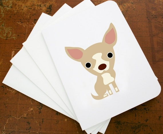 Blank note cards with Chihuahua (set of 6 )